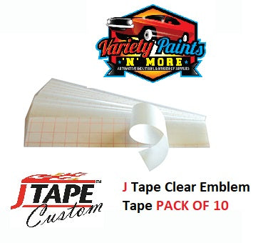 JTape Clear Logo Tape 10 Pack