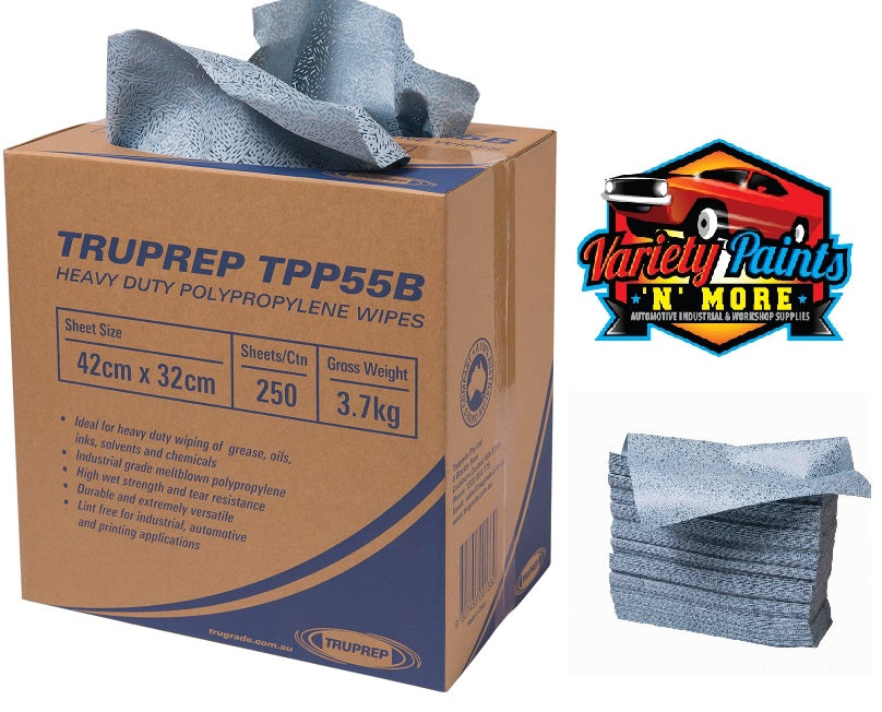 TRU PREP Polypropylene Wipes 42cm x 32cm 250 WIPES