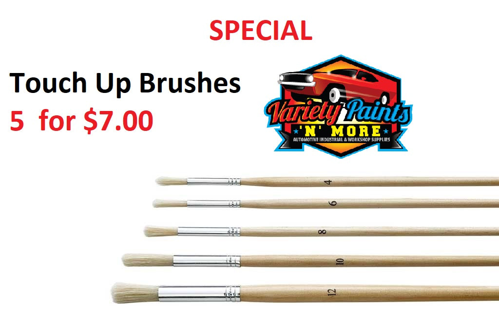 OSY Touch Up Brush 5 for $7.00 Assorted Sizes available