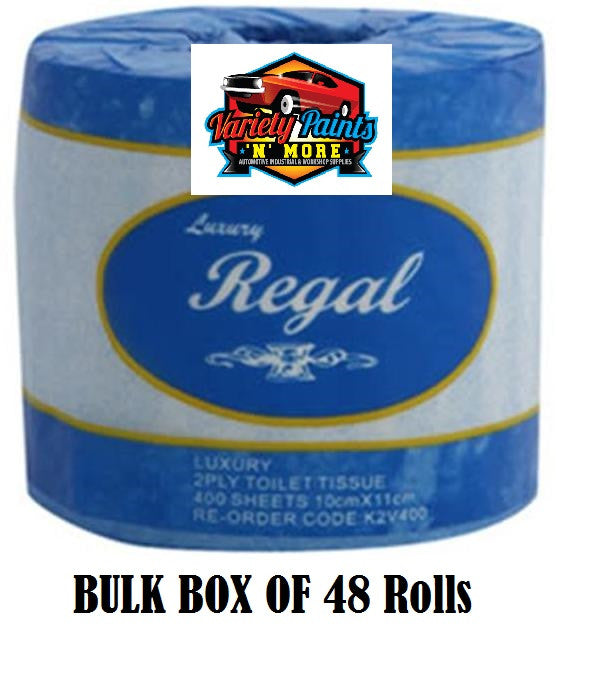 Regal Luxury Toilet Roll 2 ply 400 sheet x 48 rolls