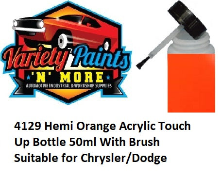4129 Hemi Orange Acrylic Touch Up Bottle 50ml With Brush