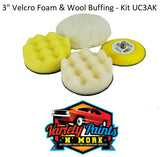 "3"" Velcro Foam & Wool Buffing - Kit UC3AK"