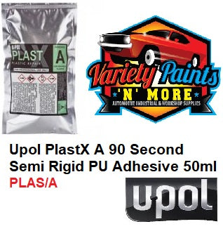 Upol PlastX A 90 Second Semi Rigid PU Adhesive 50ml PLAS/A