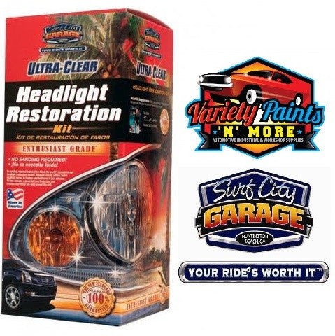 Ultra Clear Headlight Restoration Kit Surf City Garage