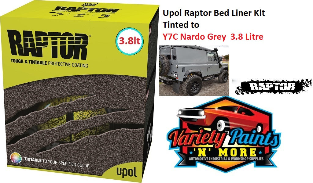 Upol Raptor Bed Liner Kit Tinted to Nardo Grey  3.8 Litre