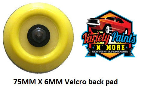 Velocity Dual Action Velcro Backing Pad 75mm x 6mm