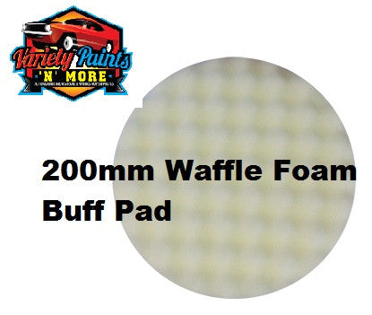 Velocity 200mm Velcro Waffle Foam Buff Pad White-Cutting