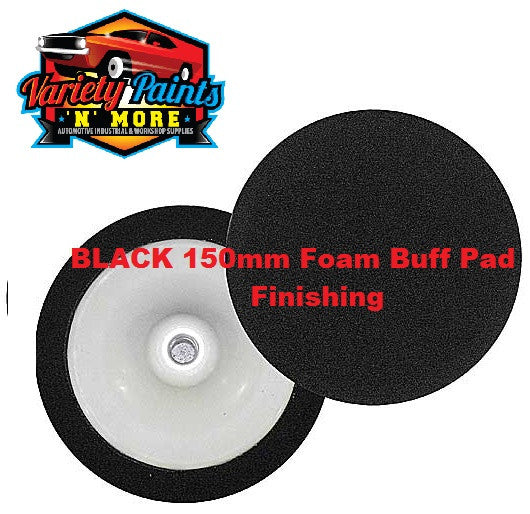 Velocity 150mm Foam Buff Pad Black Soft  - Refinishing