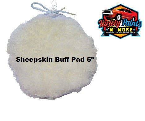 Black Diamond Sheepskin Tie On Polishing Buff Pad 125mm 5""