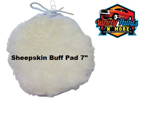 Black Diamond Sheepskin Tie On Polishing Buff Pad 180mm 7""