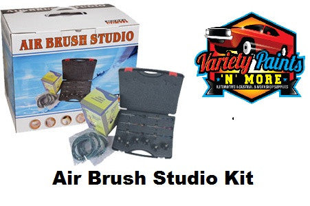 Air Brush Studio Kit 6 Brushes Variety Paints N More
