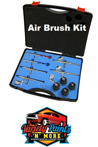 Air Brush Kit 6 Brushes Variety Paints N More