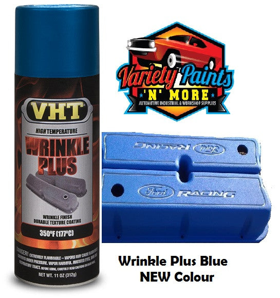 VHT Wrinkle Plus Blue Spray Paint NEW COLOUR