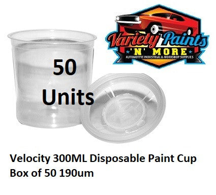 Velocity 300ML Disposable Paint Cup Box of 50 190um