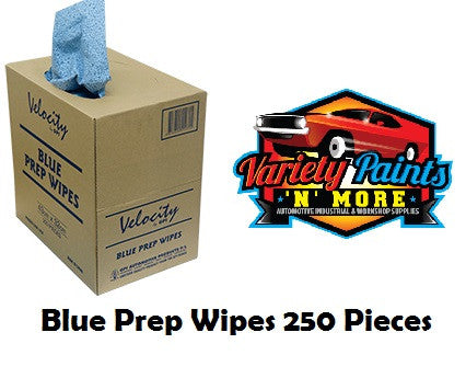 Velocity Blue Prep Wipes 43cm x 32cm 250 Per Box