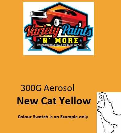 H11837 NEW CAT YELLOW Enamel Spray Paint 300 Grams
