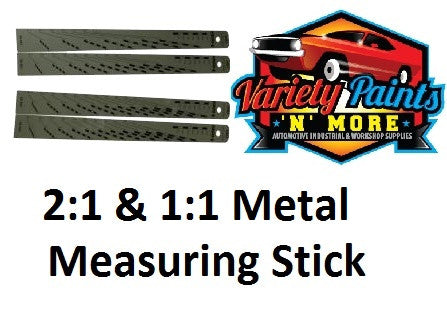 Paint Metal Measuring Stick 2:1 and 1:1