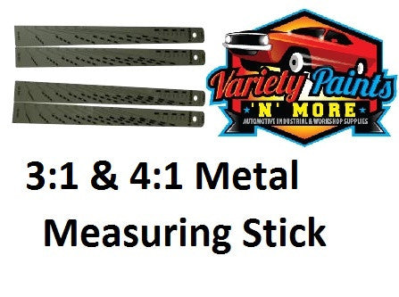 Paint Metal Measuring Stick 3:1 and 4:1 Variety Paints N More