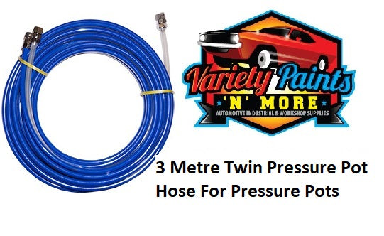 3 Metre Twin Pressure Pot Hose For Pressure Pots