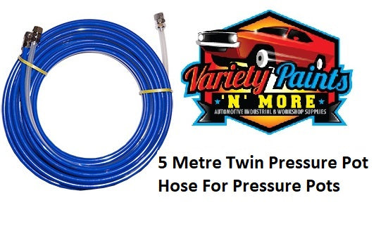 5 Metre Twin Pressure Pot Hose For Pressure Pots
