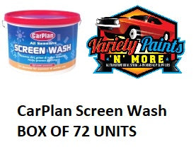 CarPlan Screen Wash BOX OF 72 UNITS