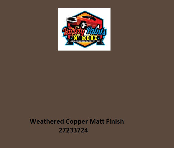 33724 Weathered Copper MATT Powdercoat Spray Paint 300g **NOTES