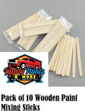 Wooden Paint Mixing Sticks  10 Pack