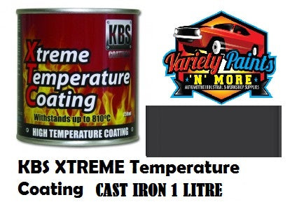 KBS Cast Iron Grey Xtreme Temp Paint 1 Litre 6842