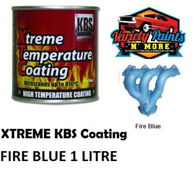 KBS Fire Blue Xtreme Temp Paint 1 Litre