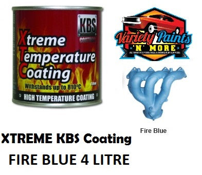 KBS Fire Blue Xtreme Temp Paint 4 Litre