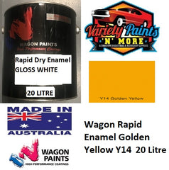Wagon Rapid Enamel Golden Yellow Y14  20 Litre 601SEY1420