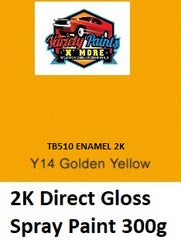 Y14 Golden Safety  Yellow Aust Std 2K Direct Gloss Aerosol 300 Grams