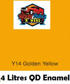 Y14 Golden Yellow 4 Litres Quick Dry Enamel Aus Std Custom Spray Paint