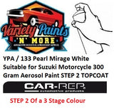 YPA / 133 Pearl Mirage White Suitable for Suzuki Motorcycle 300 Gram Aerosol Paint STEP 2 TOPCOAT