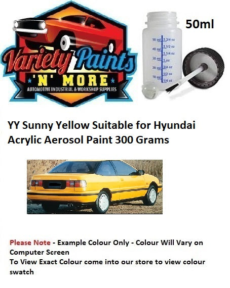 YY Sunny Yellow Suitable for Hyundai Acrylic Touch Up Bottle 50ml