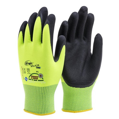 Ninja Maxim Cool Hi Vis Safety Gloves Small Pair