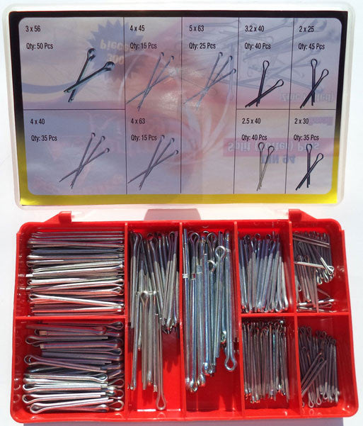 Torres Split Pins Din 94 Zinc Plated 300 pieces per box.