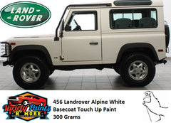 456/NUC Landrover Alpine White Basecoat Touch Up Paint 300 Grams
