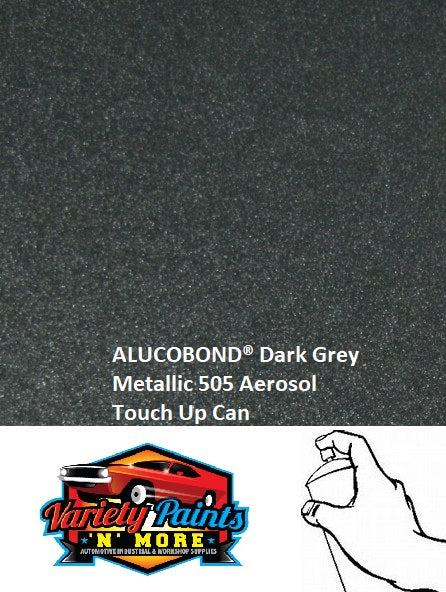 505 Alucobond Dark Grey Metallic Satin Spray Paint 300g