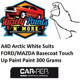 A4D Arctic White Suits FORD/MAZDA Basecoat Touch Up Paint Paint 300 Grams