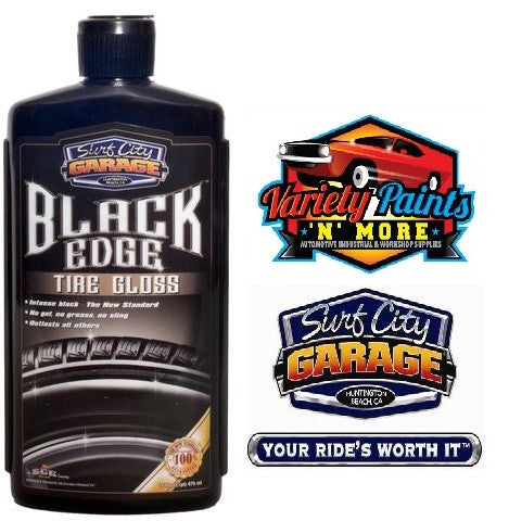 Black Edge Tire Gloss 16oz Surf City Garage