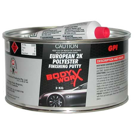 BodyworX European 2K Poly Finishing Putty 2kg
