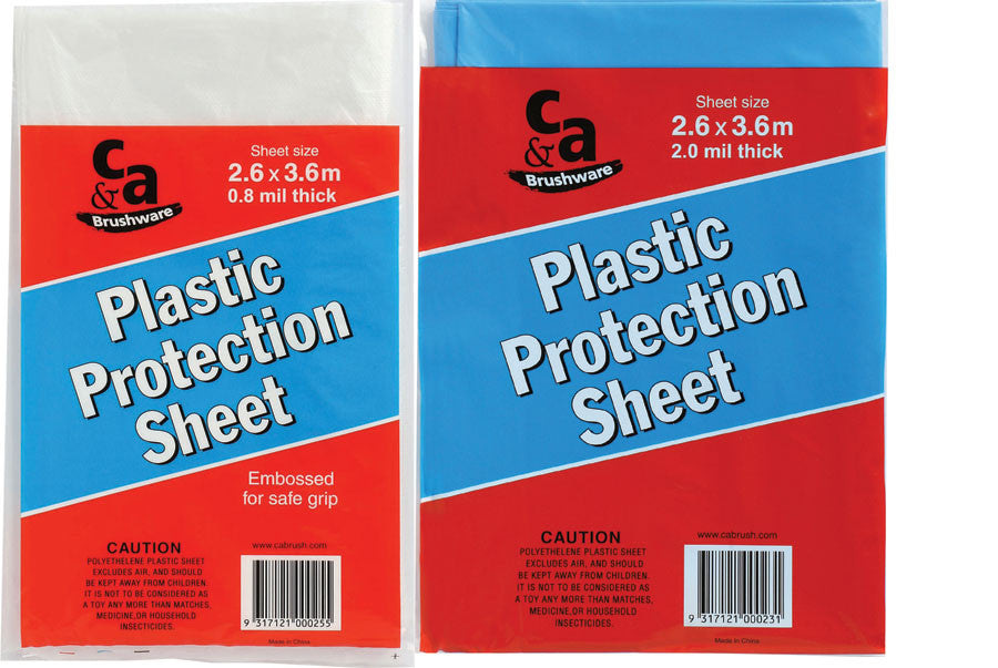 Plastic Protection Sheet 2.6 x 2.6 Metres 2 mm Thick
