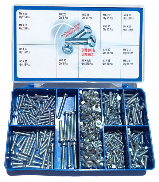 Torres Cheese Head Machine Screws & Hex Nuts 500 Pieces