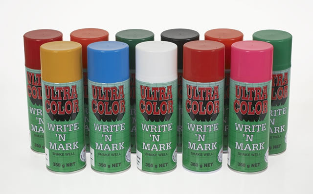 UltraColor Write & Mark Fluoro Red Paint 350 Gram