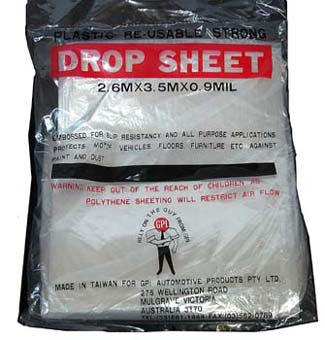 Velocity Drop Sheet Plastic 12""