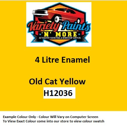 Old Cat Yellow Industrial Enamel 601 Spray Paint 4 Litre