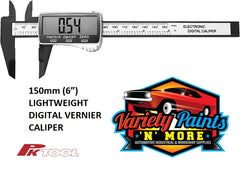 "PK TOOL 150mm (6"") LIGHTWEIGHT DIGITAL VERNIER CALIPER"