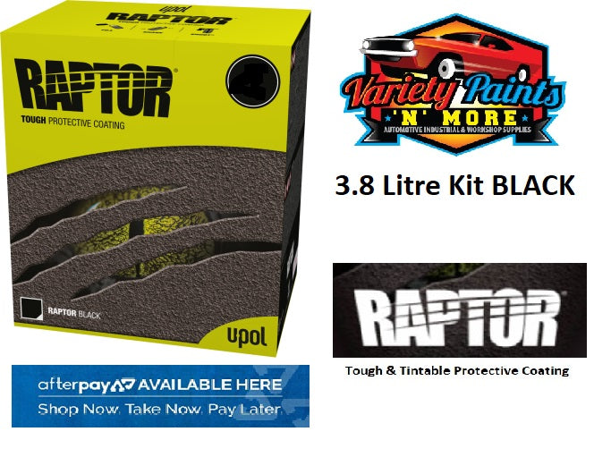 Upol Raptor Bed Liner Kit Black 3.8 Litre