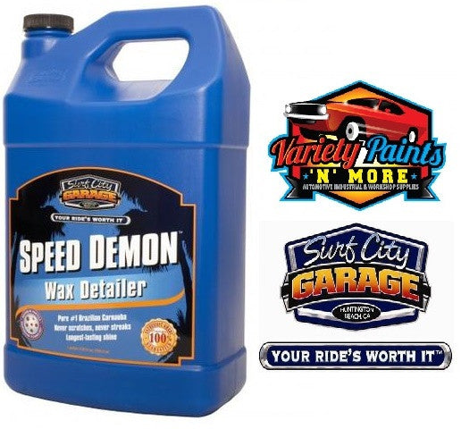 Speed Demon  Wax Detailer 1 Gallon 3.75 Litres Surf City Garage